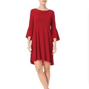 Jones New York Red Bell Sleeve Dress